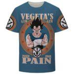 Vegeta's Gym Power From Pain Funny DBZ T-Shirt