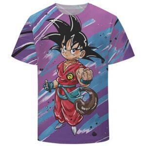 Cute Kid Goku Graffiti Painting 3D Dragon Ball T-Shirt