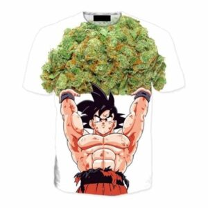Dragon Ball Goku Ganja Weed Marijuana Spirit Bomb T-Shirt