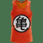 Dragon Ball Z Orange Kame Symbol Goku Master Roshi Tank Top