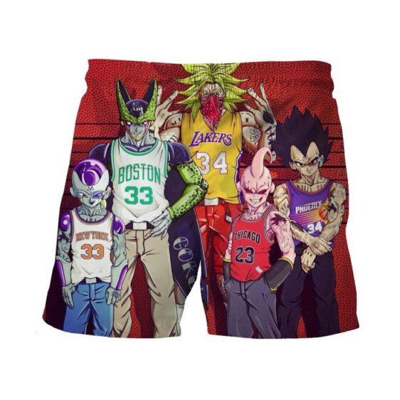Dragon Ball Z Villains NBA Basketball Teams Wanted Casual Shorts