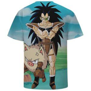 Raditz Funny Art Scouter Pokemon Primape DBZ Cool 3D T-Shirt