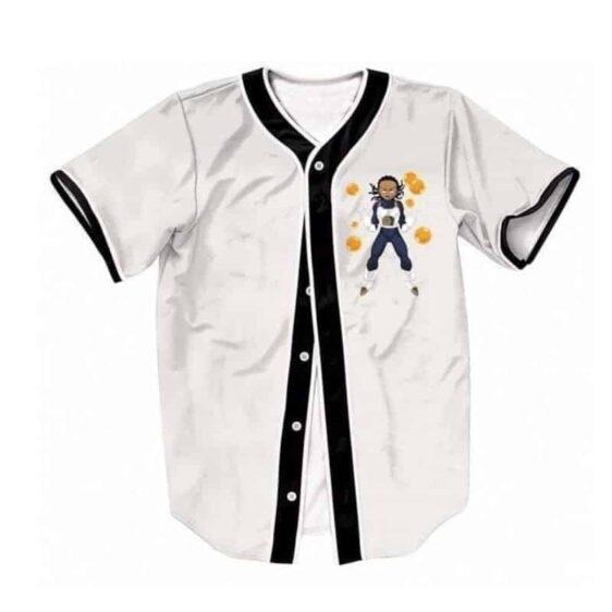 Boondocks Riley Gangsta Wearing Saiyan Amor 7 Dragon Balls Baseball Jersey