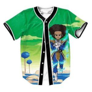The Boondocks Huey Freeman Wearing Saiyan Armor Hip Hop Baseball Jersey