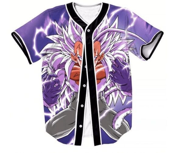 Super Saiyan 5 SSJ5 Vegeta Angry DBZ Streetwear Hip Hop 3D Baseball Jersey