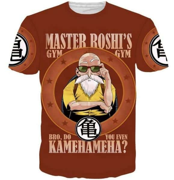 Master Roshi Gym Bro Do You Even Kamehameha Funny DBZ T-Shirt
