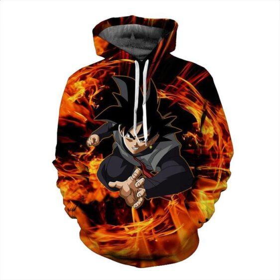 DBZ Evil Goku Black Zamasu Fire Future Trunks Saga 3D Printing Hoodie