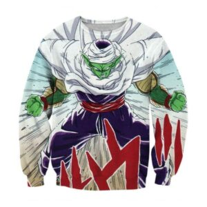 DBZ Anime Piccolo Evil King Anger Release Full Print Cool Design Sweatshirt