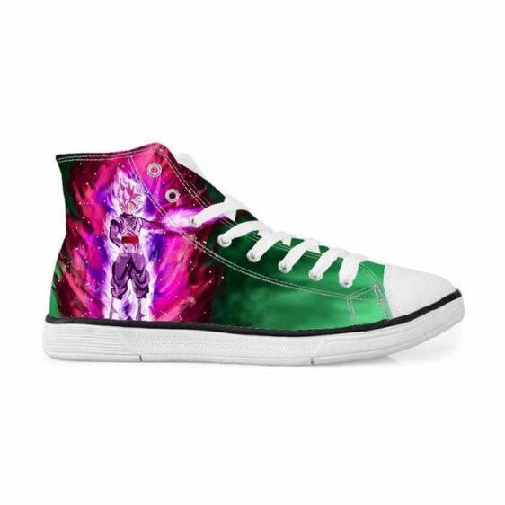 Dragon Ball Super Saiyan Rose Goku Black Sneakers Converse Shoes