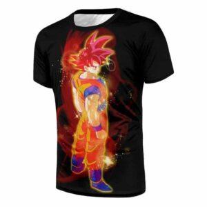 Dragon Ball Goku Super Saiyan Rose Japan Anime Cool Design T-Shirt