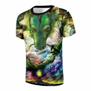 Shenron DBZ The Powerful Eternal Dragon Super Saiyan Battle T-Shirt
