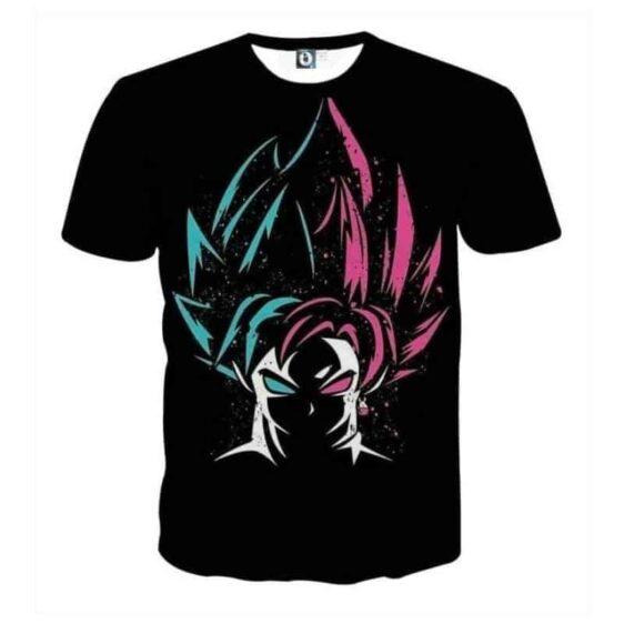 DBZ Goku Super Saiyan God Blue Rose SSGSS Dope Design T-Shirt