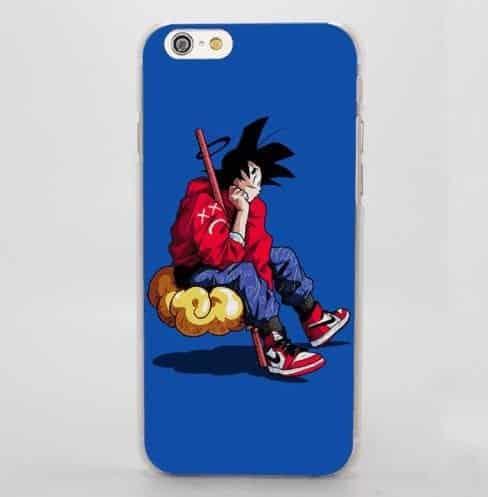 Angel Goku Sitting Cloud Nimbus Hip Hop Style iPhone 5 6 7 Plus Case
