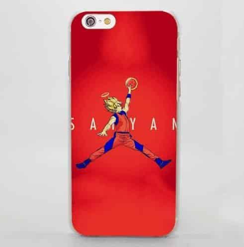 Super Saiyan Goku Basketball Slam Dunk Jordan iPhone 5 6 7 Plus Case
