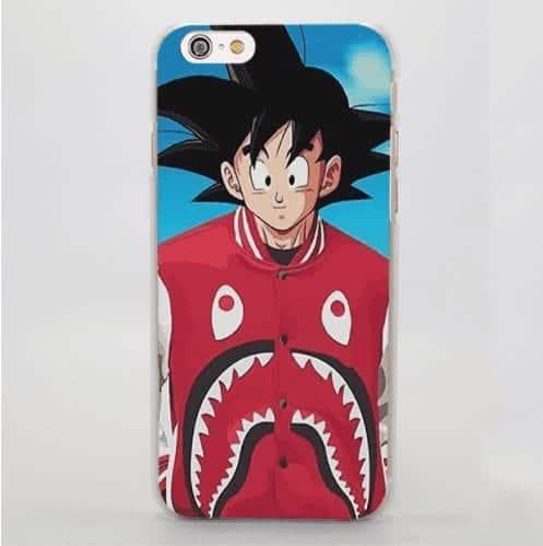 Goku Shark Fun Jacket Original Design iPhone 5 6 7 Plus Case Cover