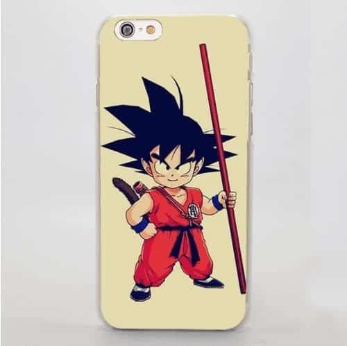 Kid Goku Ready to Fight Simple Beige iPhone 5 6 7 Plus Case