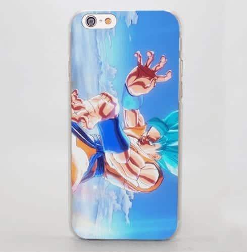 Super Saiyan Blue Goku Kamehameha Attack iPhone 5 6 7 Plus Case