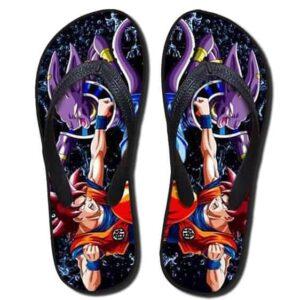 Beerus Destruction God Vs Goku Fight Cool Sandals Flip Flops Shoes