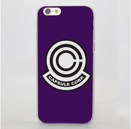 DBZ Capsule Corp Logo Purple Theme Color Minimalist iPhone 4 5 6 7 8 Plus X Case