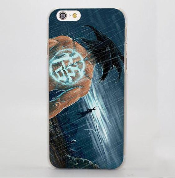 DBZ Goku Go Symbol Kanji Under the Rain Cool iPhone 4 5 6 7 Plus Case