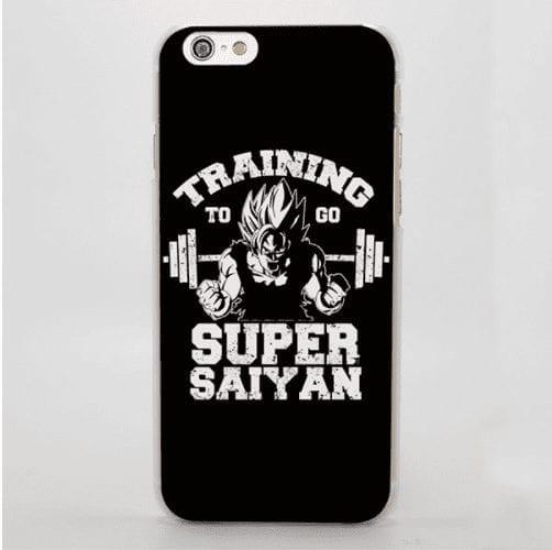 DBZ Goku Super Saiyan Gym Motivated Slogan Black iPhone 4 5 6 7 8 Plus X Case