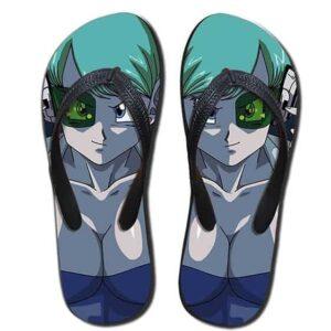 Dragon Ball Bulma Sexy Curve Beach Style Sandals Flip Flops Shoes