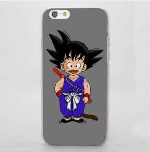 Dragon Ball Goku Kid Cute Anime Sketch Character Simple iPhone 4 5 6 7 8 Plus X Case