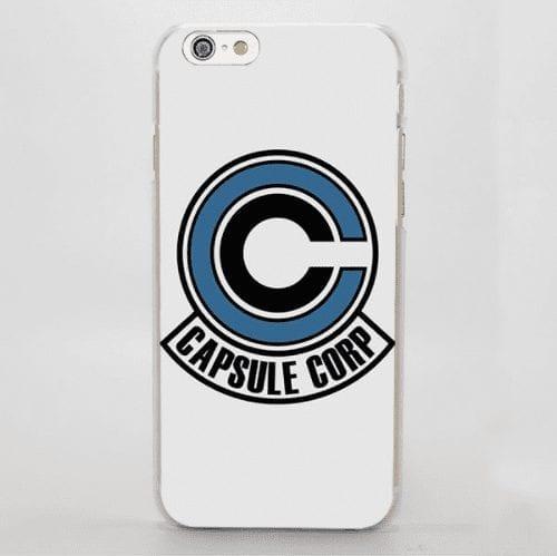 Dragon Ball Capsule Corp Logo Anime Themed Simple iPhone 4 5 6 7 8 Plus X Case