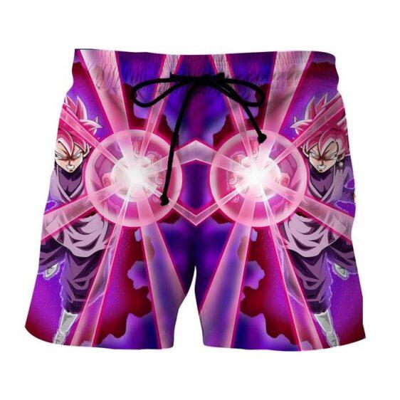Dragon Ball Goku Black Rose Super Saiyan Ki Blast Reflection Style Shorts