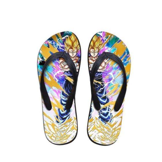 Dragon Ball Vegeto Power Aura Thunder Summer Sandals Flip Flops Shoes