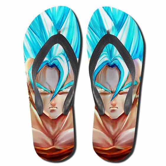 DBZ SSGSS Super Saiyan Blue Goku Sandals Beach Flip Flop Shoes