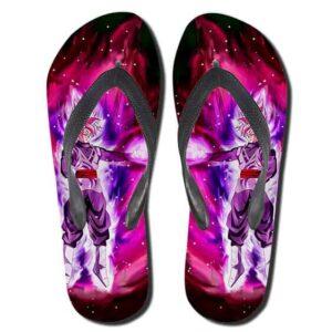 DBZ Goku Black Super Saiyan Rose Villain Sandals Flip Flops Shoes