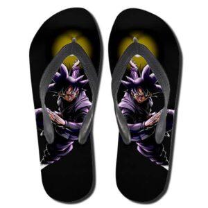 DBZ Black Goku Zamasu Villain Black Hole Sandals Flip Flops Shoes