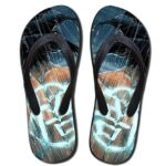 Go Symbol Kanji Goku Under the Rain Beach Sandals Flip Flops Shoes