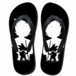 Goku Kid Shadow Sketch Cool Design Beach Sandals Flip Flops Shoes