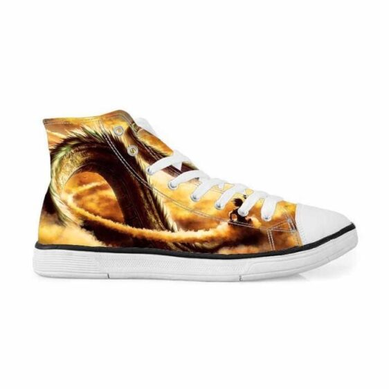 Shenron Dragon Flying Nimbus Goku Cool Sneakers Converse Shoes