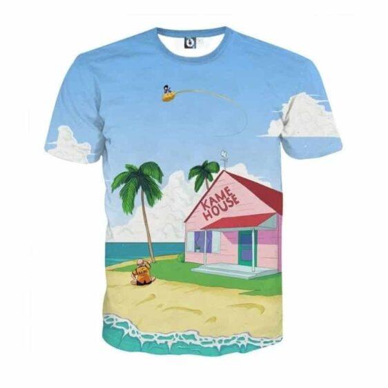 DBZ Master Roshi's Kame House Sketching Art Summer T-Shirt