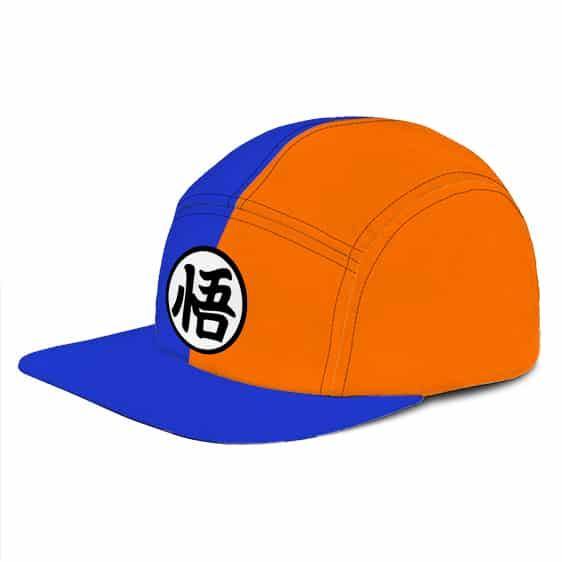 Dragon Ball Z Symbol Bi-Color Blue Orange Fashion Snapback Hat