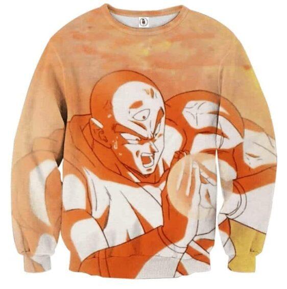 Dragon Ball Tien Shinhan Fighting Amazing Powerful Sweatshirt