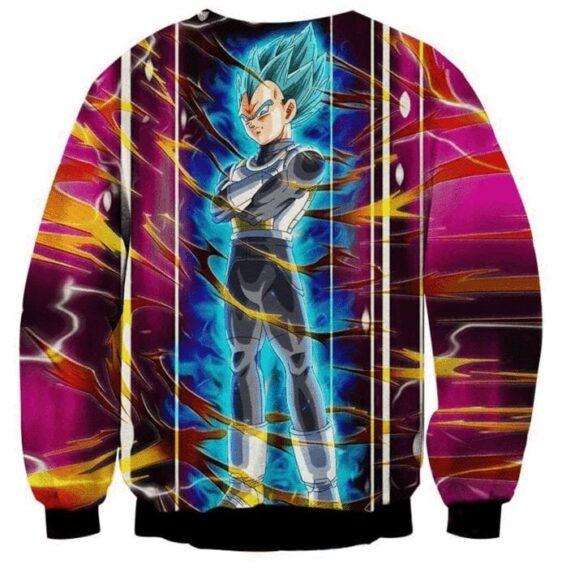 Dragon Ball Vegeta Super Saiyan God Blue SSGSS Aura Power Dope Design Sweatshirt