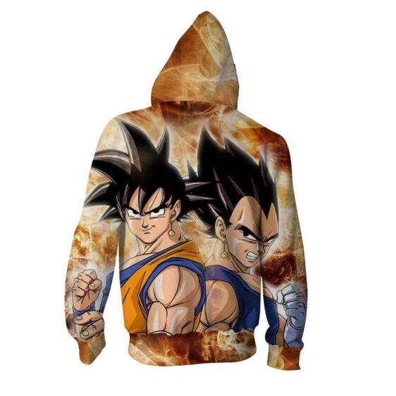 Dragon Ball Goku Vegeta Potara Fusion Cool Zip Up Hoodie