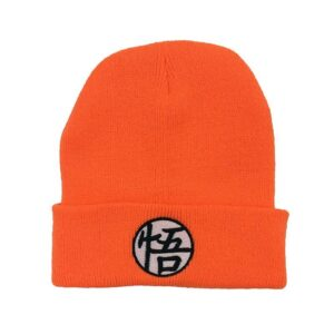 Master Roshi Goku Kame Symbol Orange Black Winter Beanie