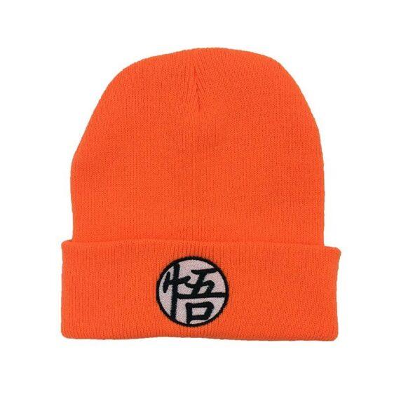 Master Roshi Goku Kame Symbol Orange Black Winter Beanie