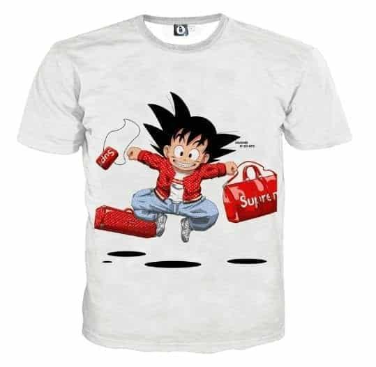 Dragon Ball Goku Kid Supreme White Fashion Design T-Shirt