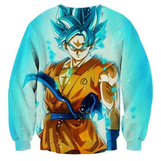 3D Printed Dragon Ball Goku Blue Flame Sweatshirt