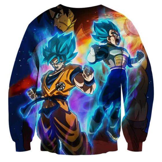 Super Saiyan God Blue Goku and Vegeta 3D Full Print Sweatshirt