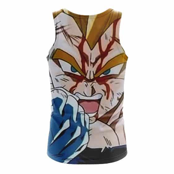 Dragon Ball Z Bruised Majin Vegeta Super Saiyan Cool Tank Top - back