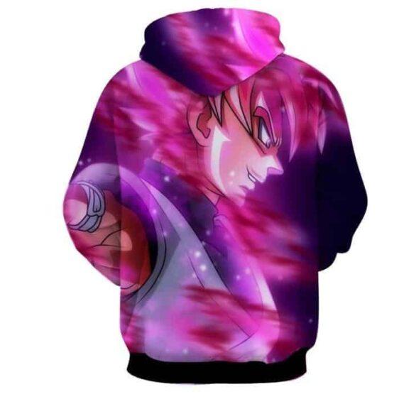 Dragon Ball Super Saiyan Black Goku Rose Cool Sideview Hoodie