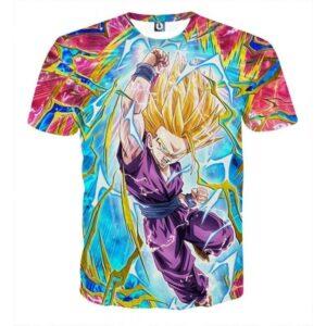 Teen Gohan Dragon Ball Full Tilt Kamehameha Super Saiyan 2 T-shirt