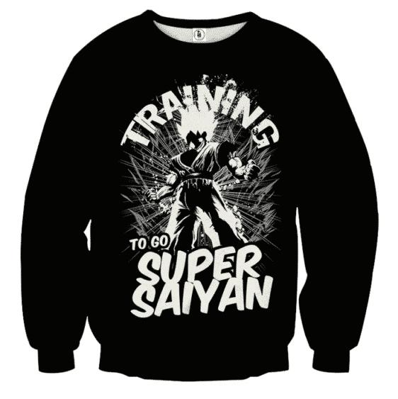 Dragon Ball Z Goku Training To Go Super Saiyan Epic Sweater